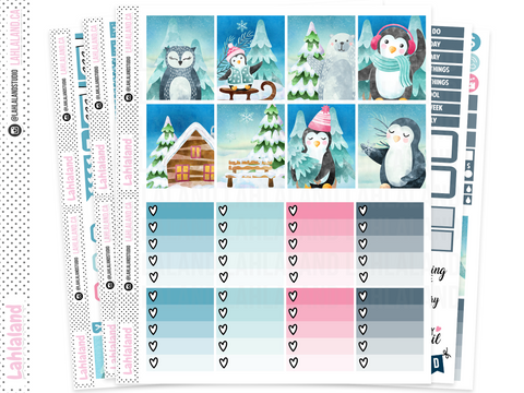 Erin Condren - Chilly Penguins Weekly Kit