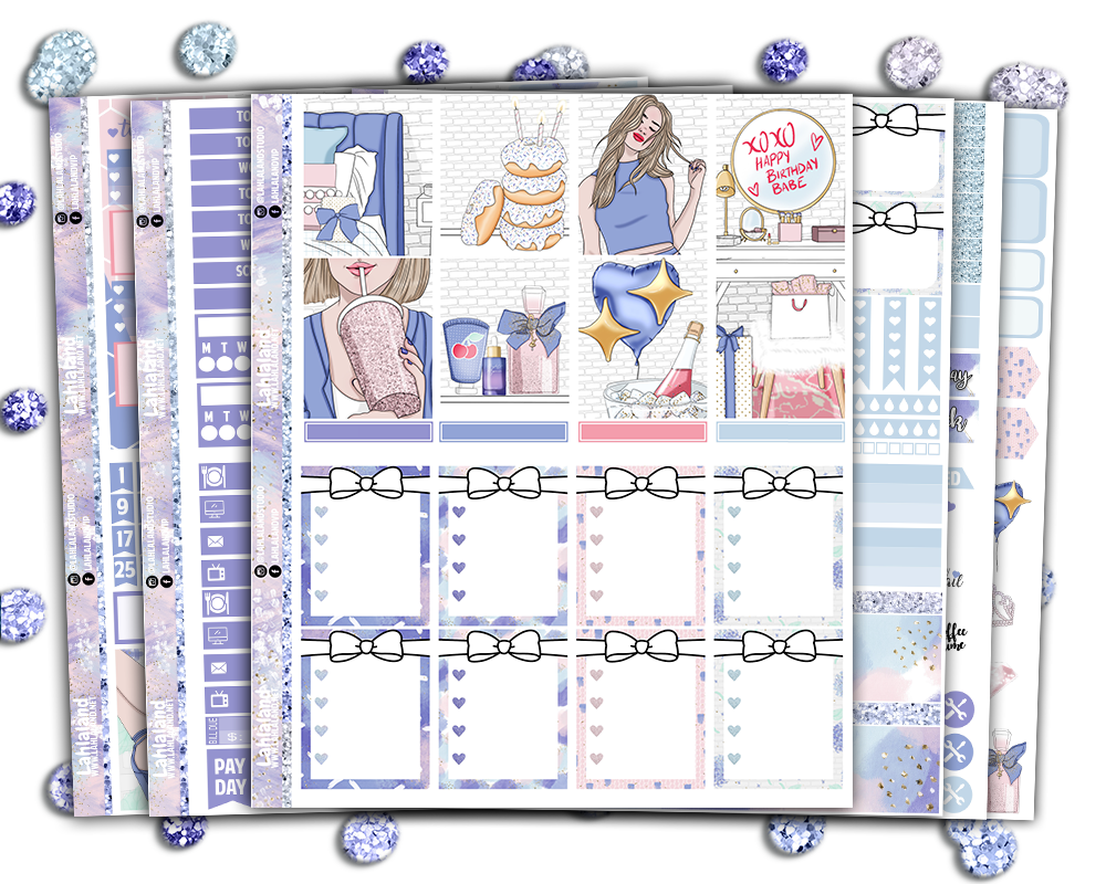 Erin Condren - Birthday Girl Weekly Kit