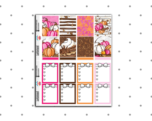 Erin Condren - Fall Latte Weekly Kit