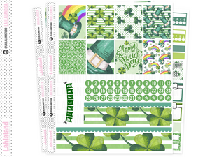 Standard Vertical, Classic Happy Planner - St Patricks Day Weekly Kit
