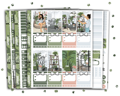 Classic Happy Planner - Greenhouse Weekly Kit
