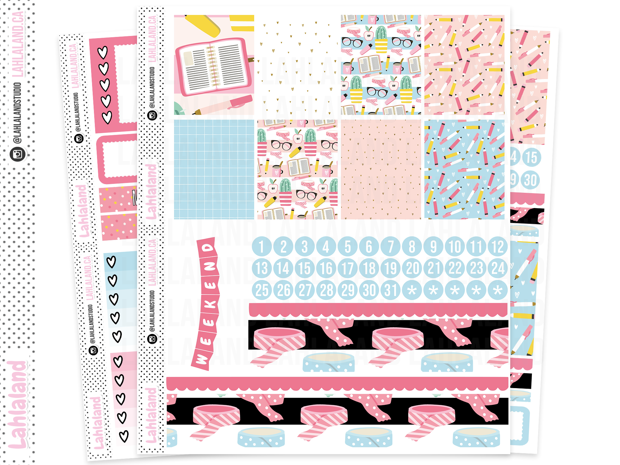 Standard Vertical, Classic Happy Planner - Sweet and Clever Weekly Kit
