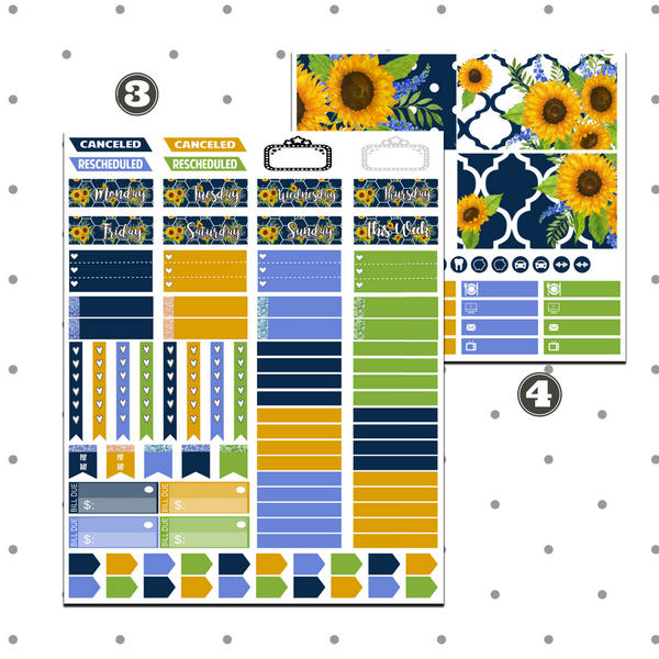 Erin Condren - Sunflower Chic Weekly Kit
