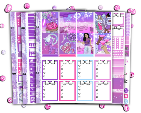Erin Condren - Bling In The New Year Weekly Kit