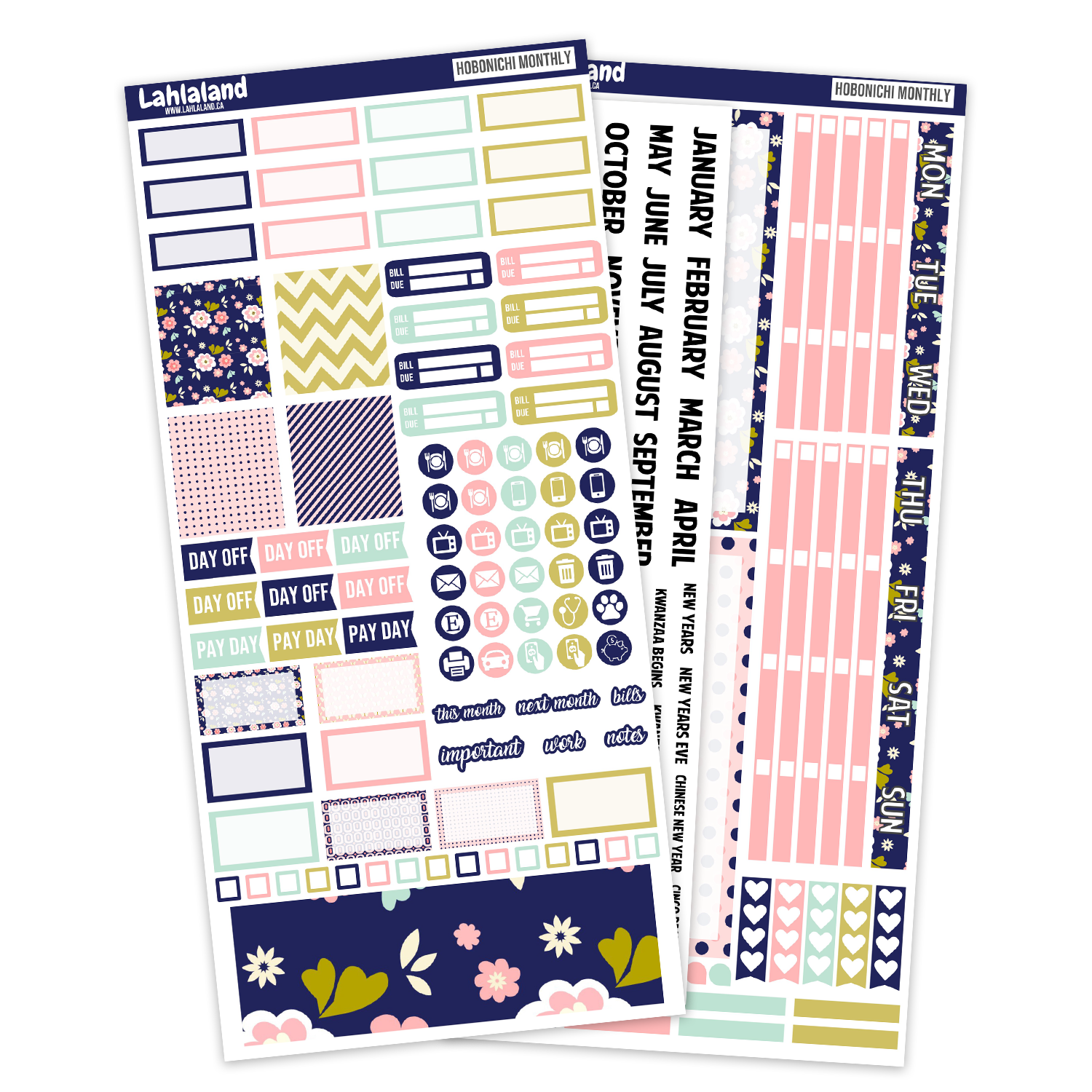 Hobonichi Weeks - Modern Floral Monthly Kit