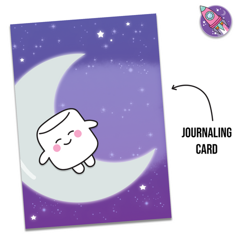 Sleeping On The Moon Journaling Card - Tripp