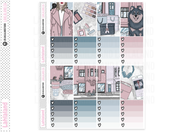 Classic Happy Planner - Uptown Winter Weekly Kit