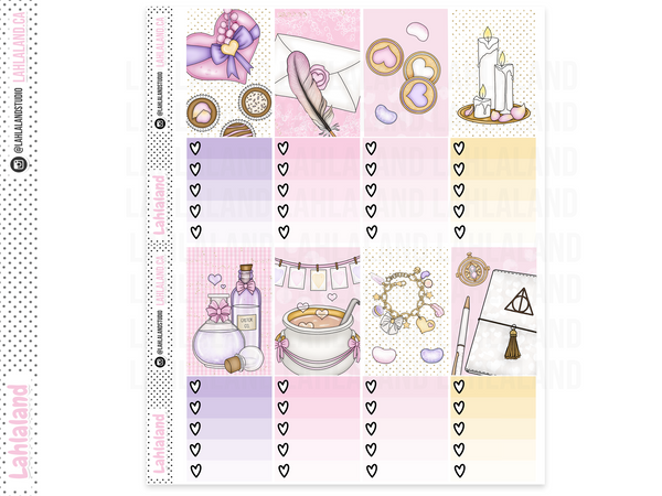 Classic Happy Planner - Wizard Valentine's Weekly Kit