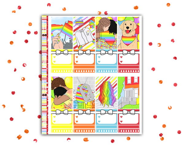 Classic Happy Planner - Pride Weekly