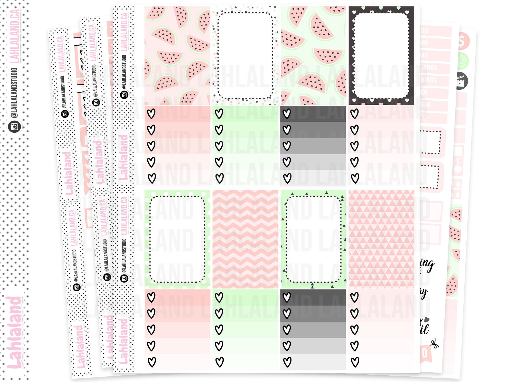 Classic Happy Planner - Watermelon Chic Weekly Kit