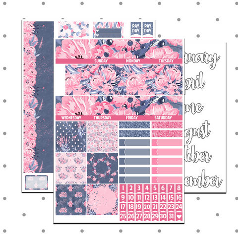 Classic Happy Planner - Bloom Monthly Kit