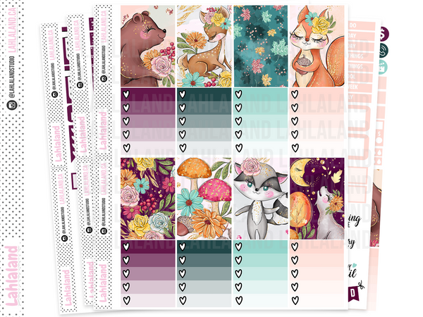 Classic Happy Planner - Forest Friends Weekly Kit