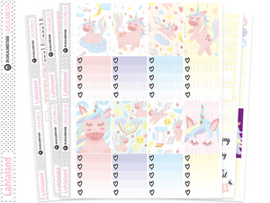 Classic Happy Planner - Cute Unicorns Weekly Kit