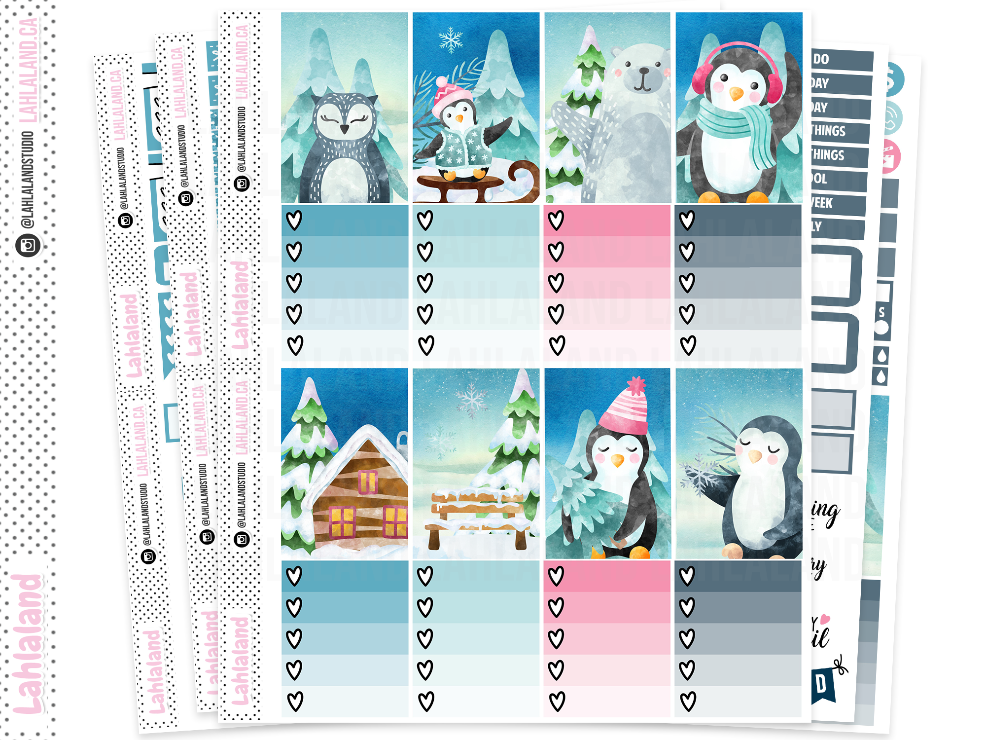 Classic Happy Planner - Chilly Penguins Weekly