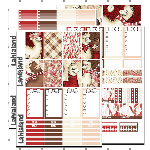 Fall Alpaca Weekly Kit - Classic Happy Planner