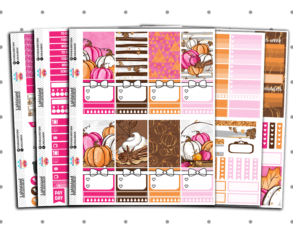 Classic Happy Planner - Fall Latte Weekly Kit
