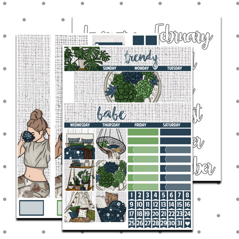 Classic Happy Planner - Trendy Babe Monthly Kit