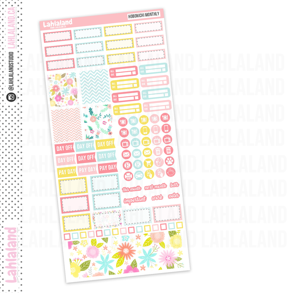 Hobonichi Weeks - Lovely Flowers Monthly Kit