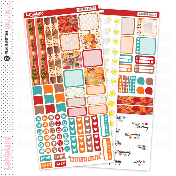Hobonichi Weeks - Fall Harvest Weekly Kit
