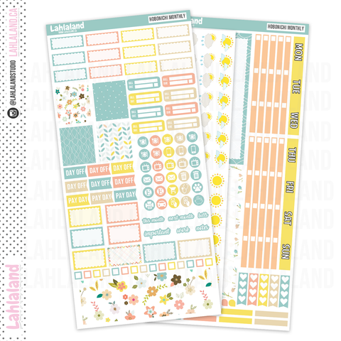 Hobonichi Weeks - Hello Spring Monthly Kit