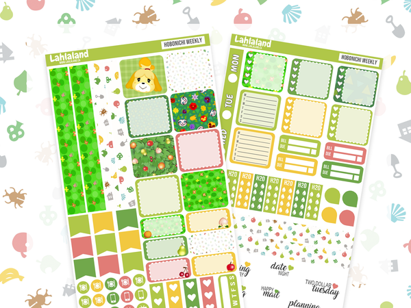 Animal Crossing Hobonichi Weeks Bundle