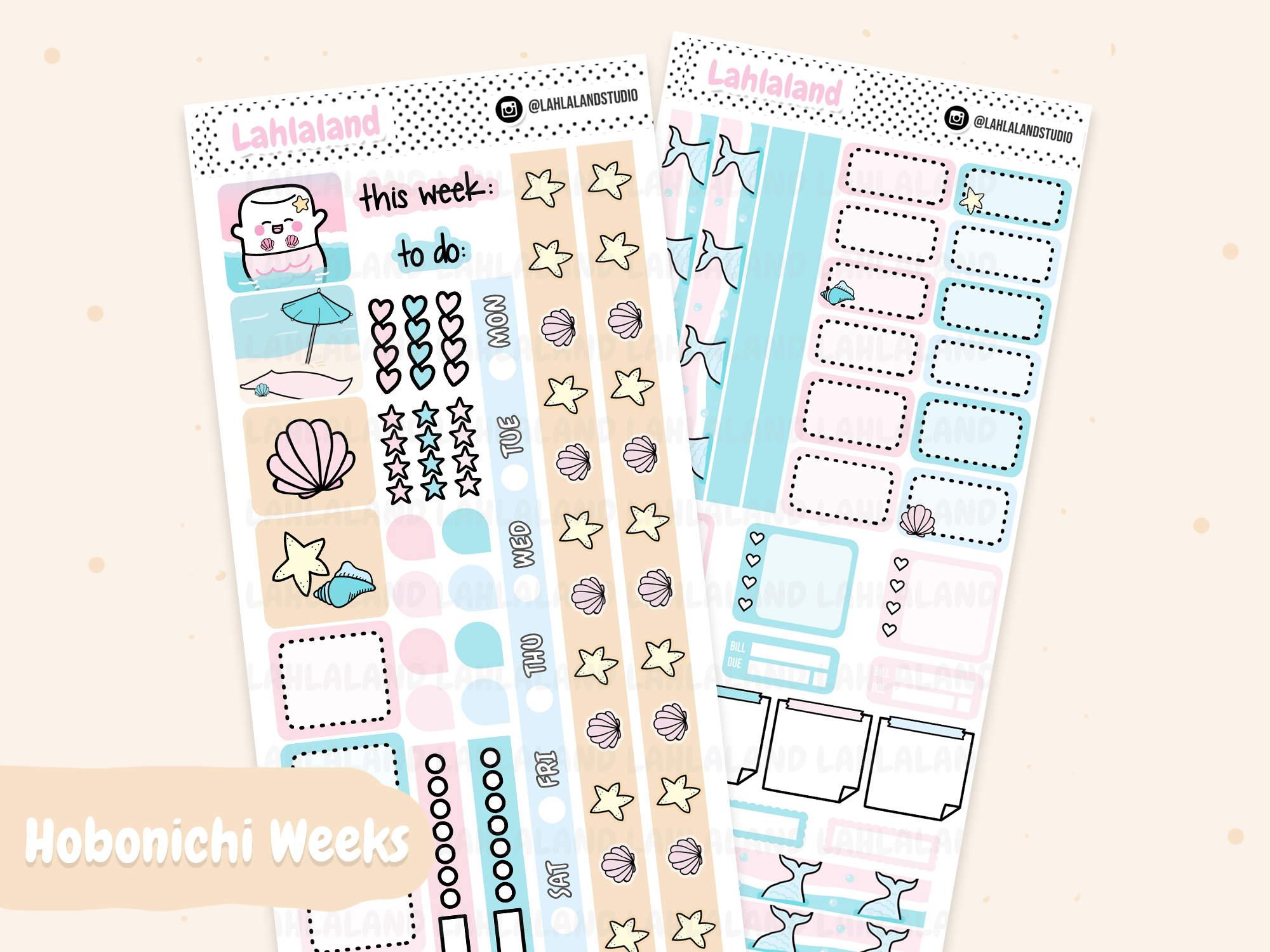 Hobonichi Weeks - Mermaid Weekly Kit