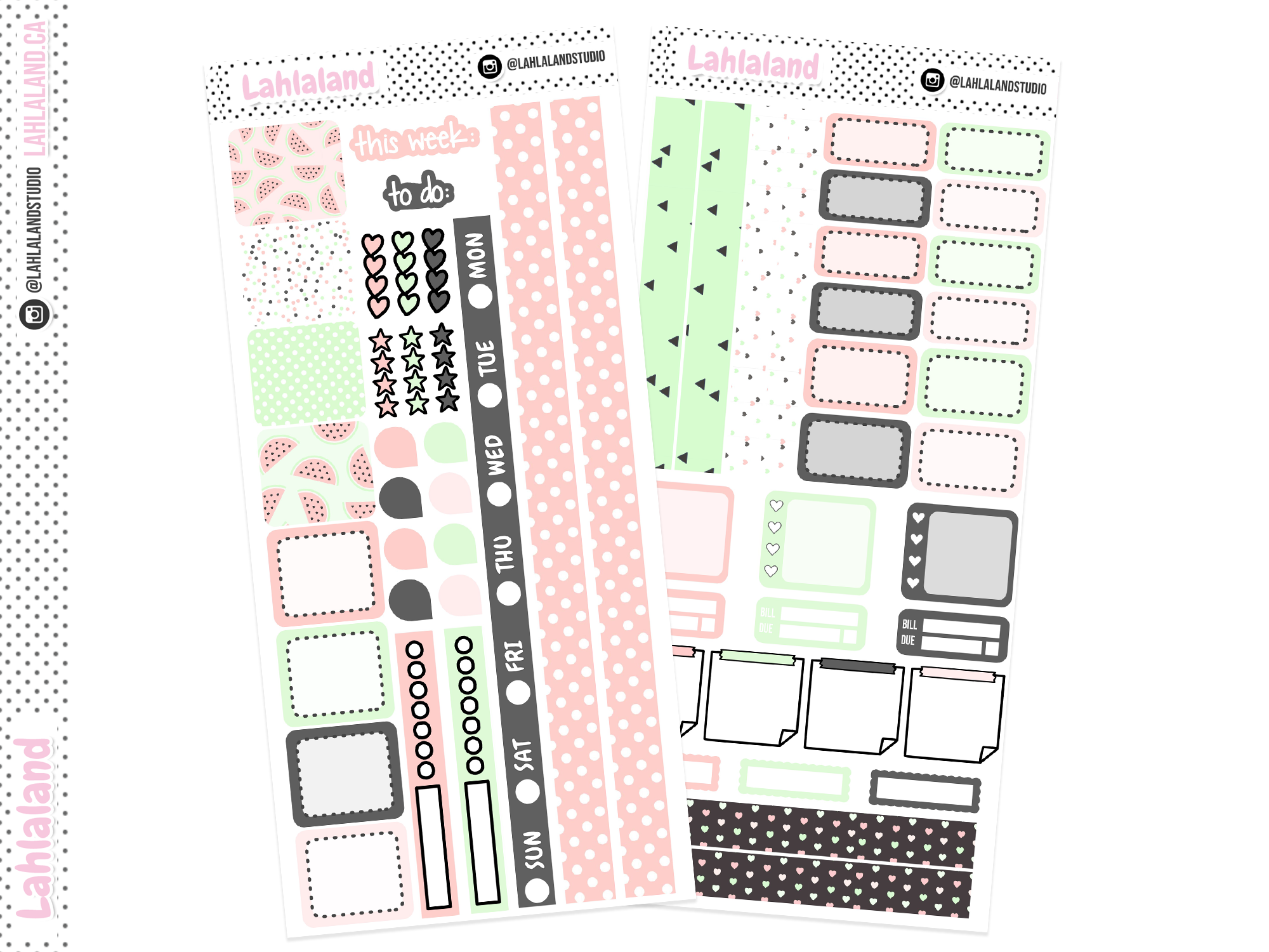 Hobonichi Weeks - Watermelon Chic Weekly Kit