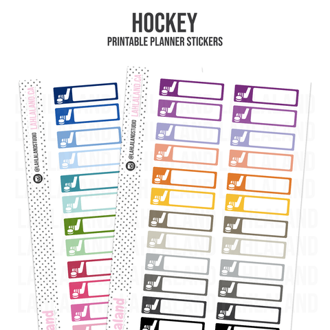 Hockey - Functional Stickers