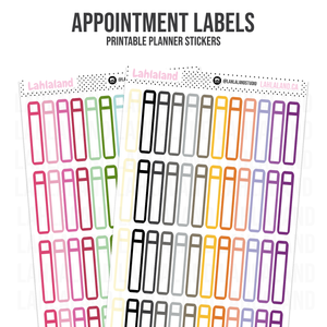 Appointment Labels - Functional Stickers