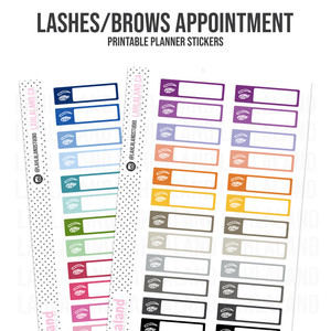 Lashes and Brows Appointment - Functional Stickers