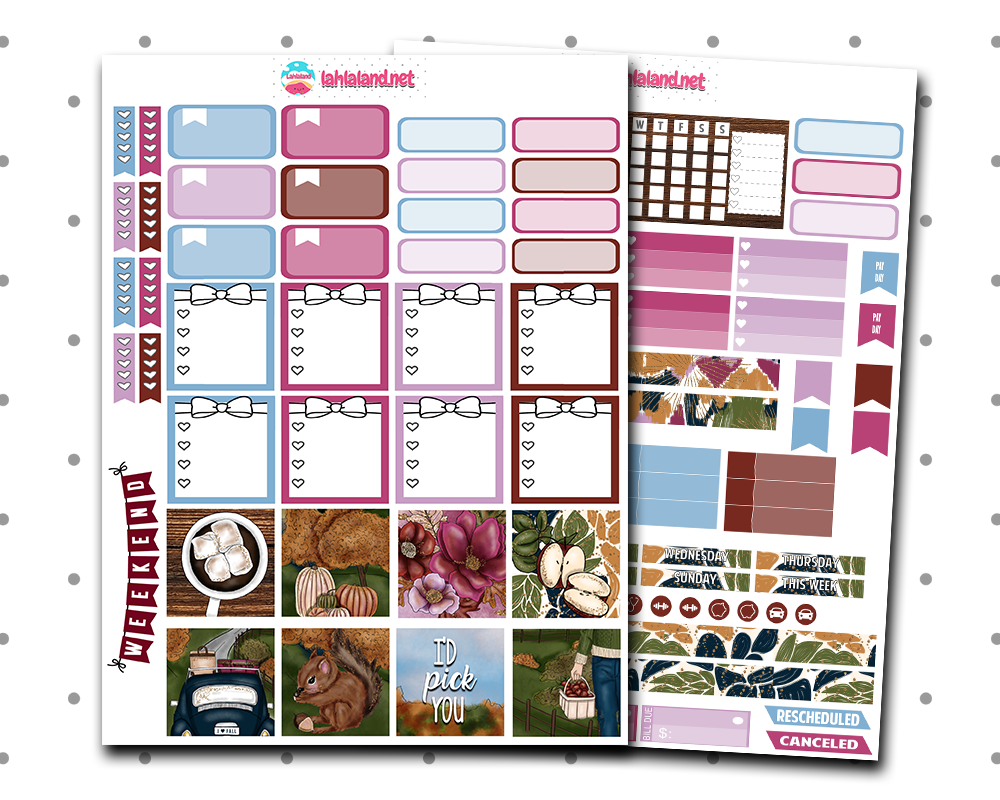 Mini Happy Planner - Bushels Of Autumn Weekly Kit