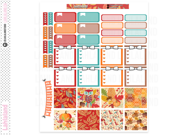 Mini Happy Planner - Fall Harvest Weekly Kit