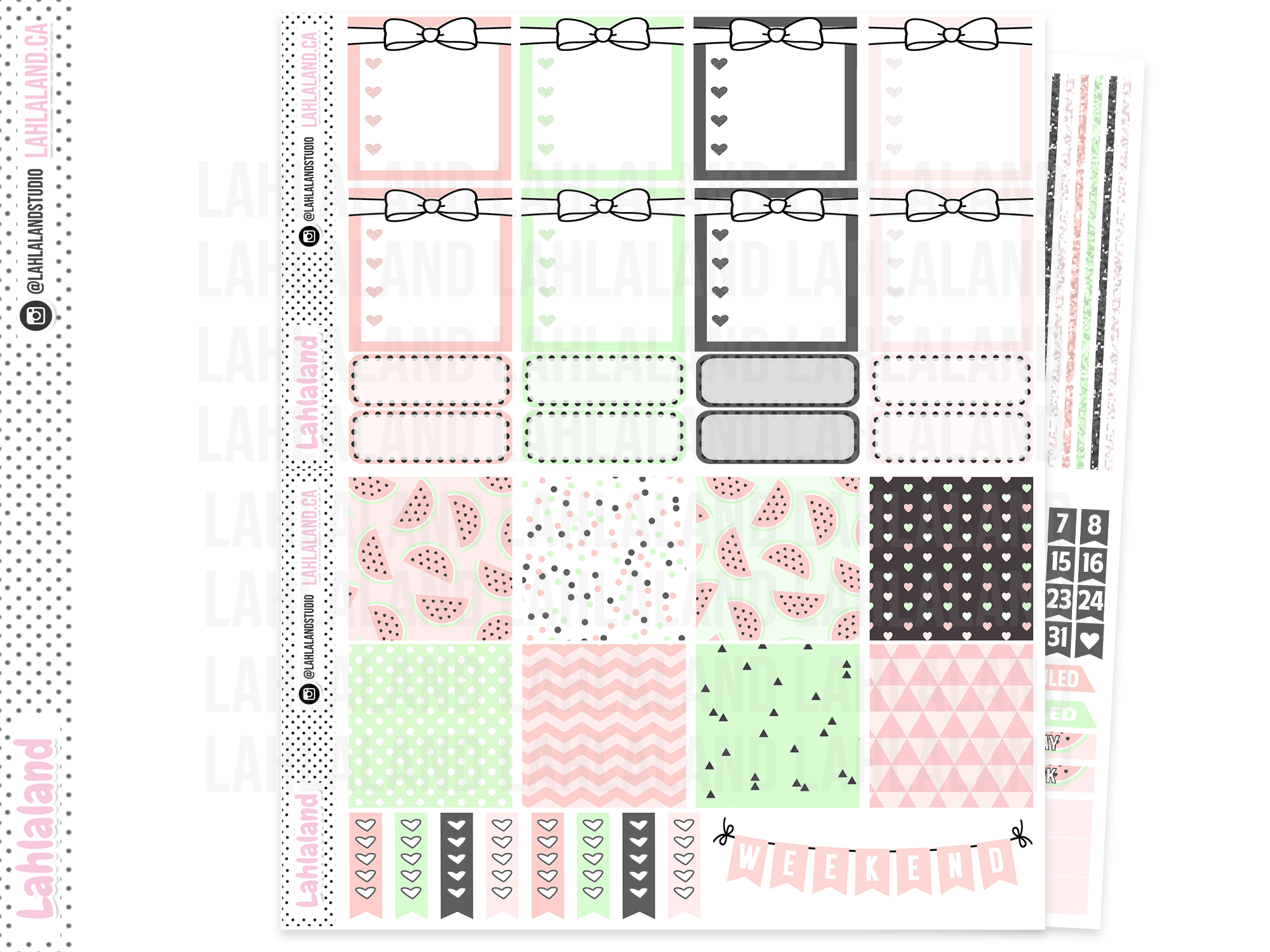 Mini Happy Planner - Watermelon Chic Weekly Kit