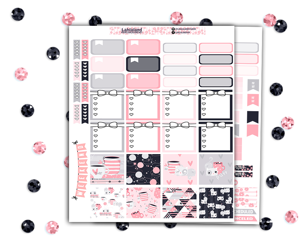 Mini Happy Planner - Kitty Weekly Kit