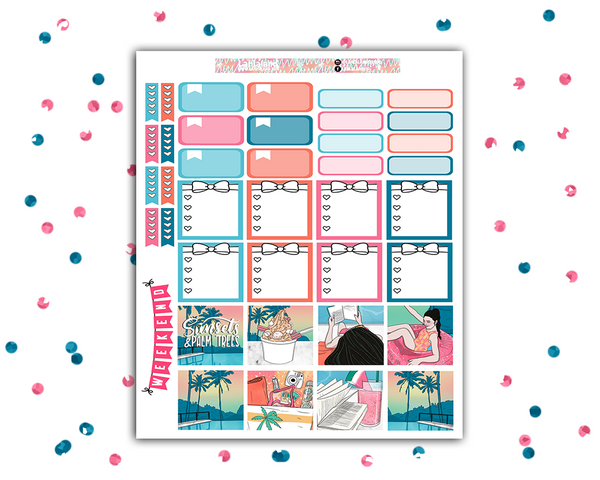 Mini Happy Planner - Poolside Weekly Kit