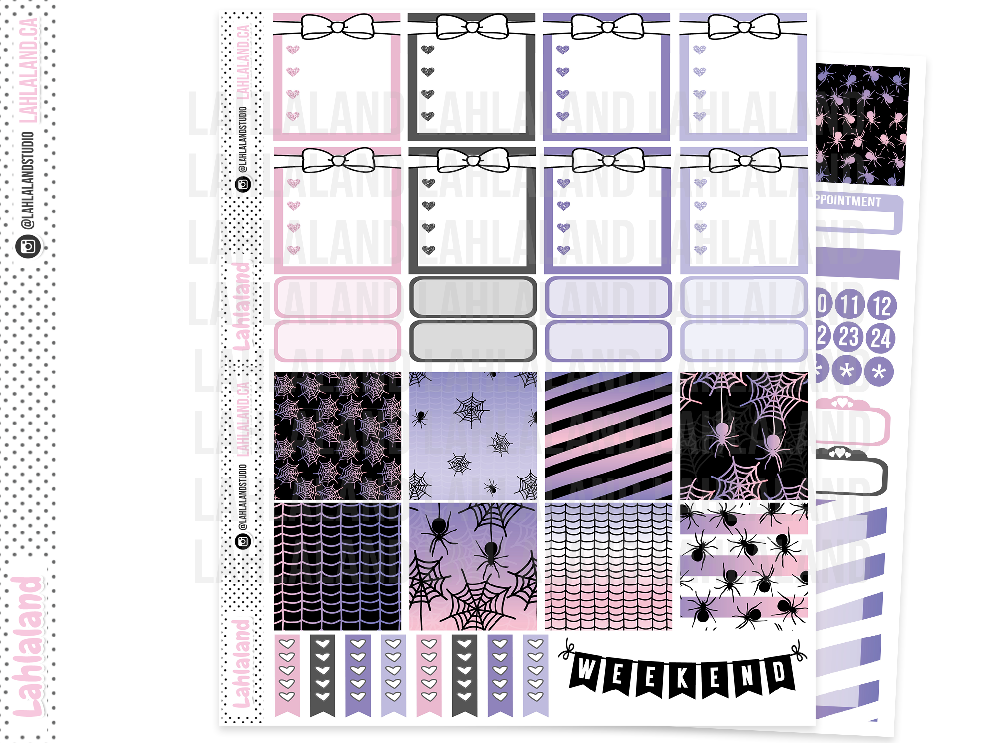 Mini Happy Planner - Spider Party Weekly Kit