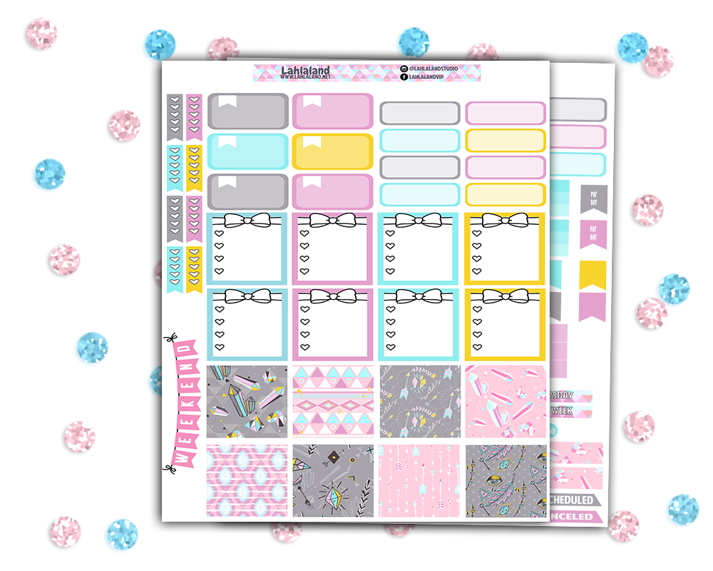 Mini Happy Planner - To Glam Weekly Kit