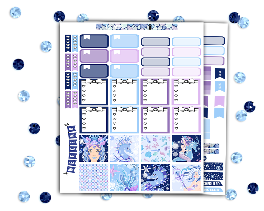 Mini Happy Planner - Glacier Queen Weekly Kit