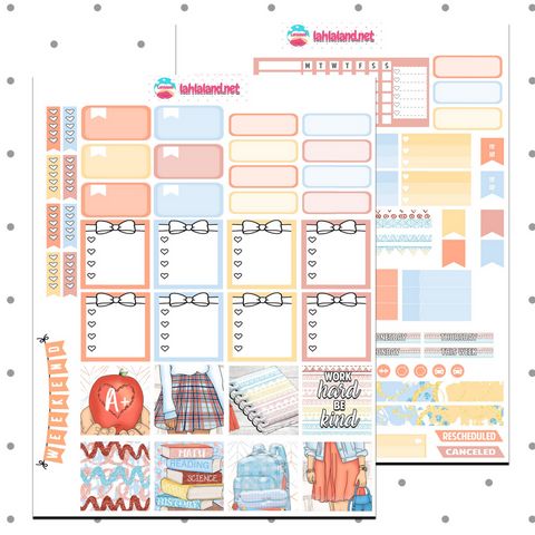 Mini Happy Planner - Back To School Weekly Kit