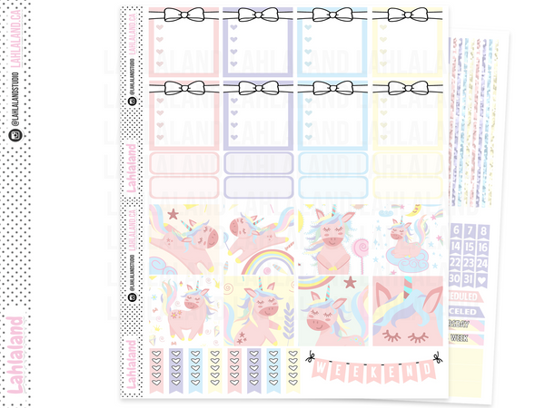 Mini Happy Planner - Cute Unicorns Weekly Kit