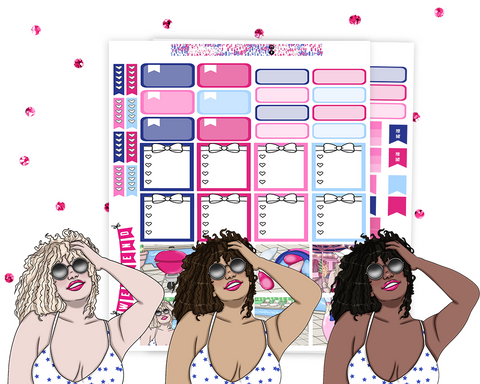 Mini Happy Planner - Pool Party Weekly Kit