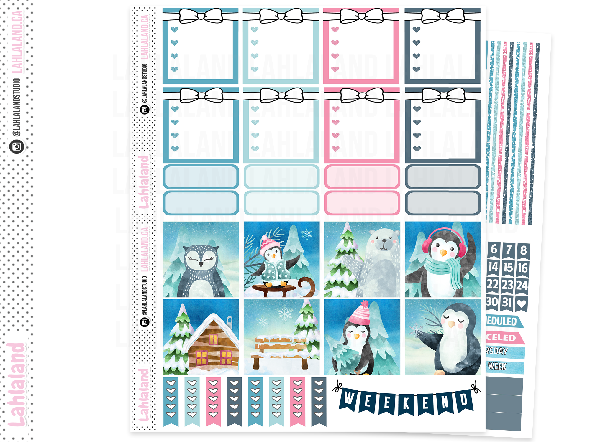 Mini Happy Planner - Chilly Penguins Weekly