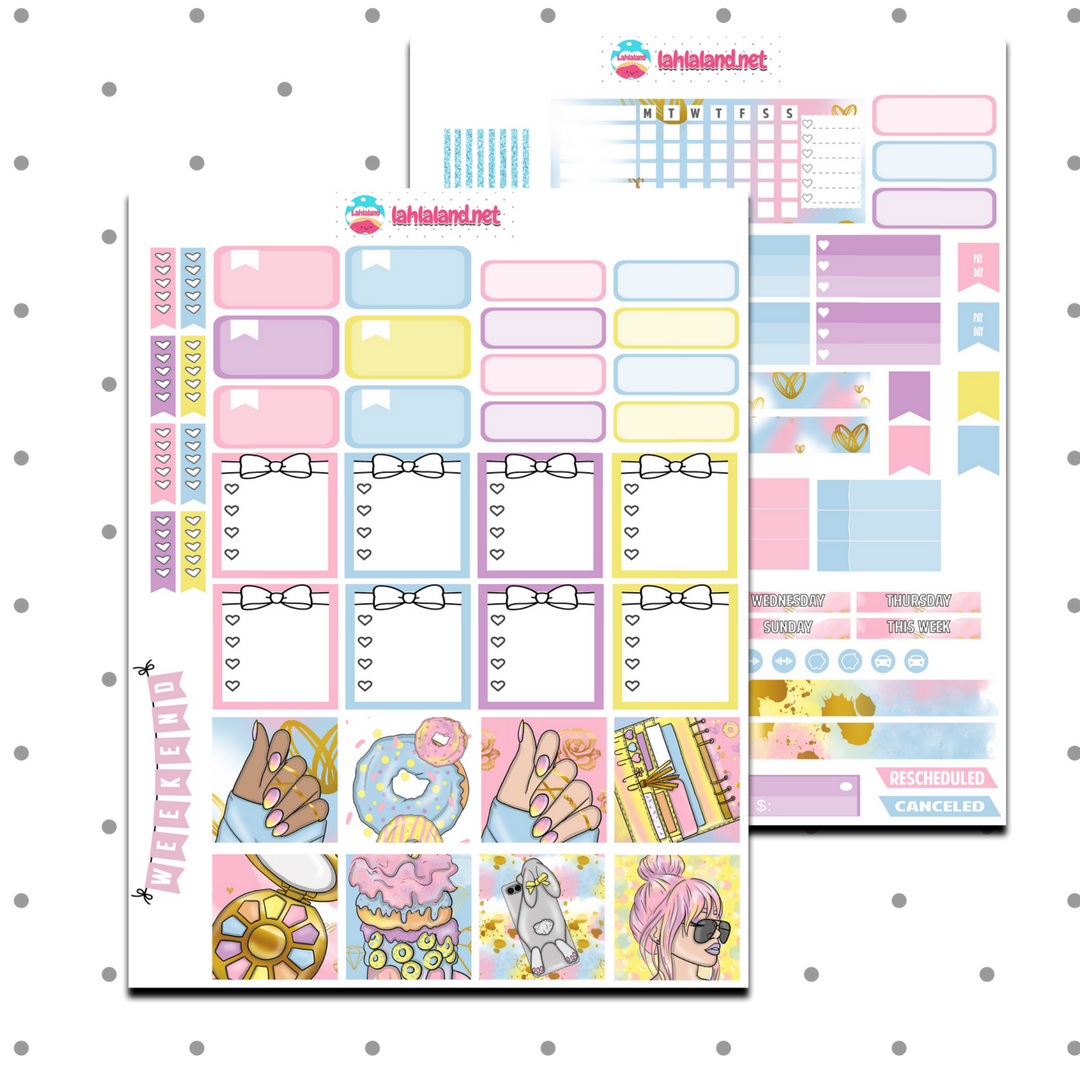 Mini Happy Planner - Summer Lady Weekly Kit