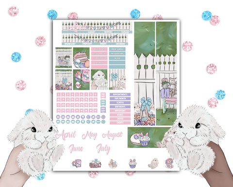 Mini Happy Planner - Easter Monthly Kit (Dated and Undated)