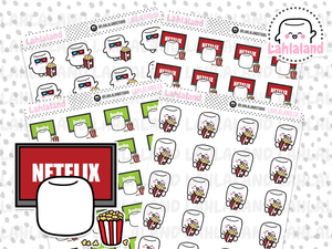 Netflix, Hulu, Movies Binge Stickers - Tripp