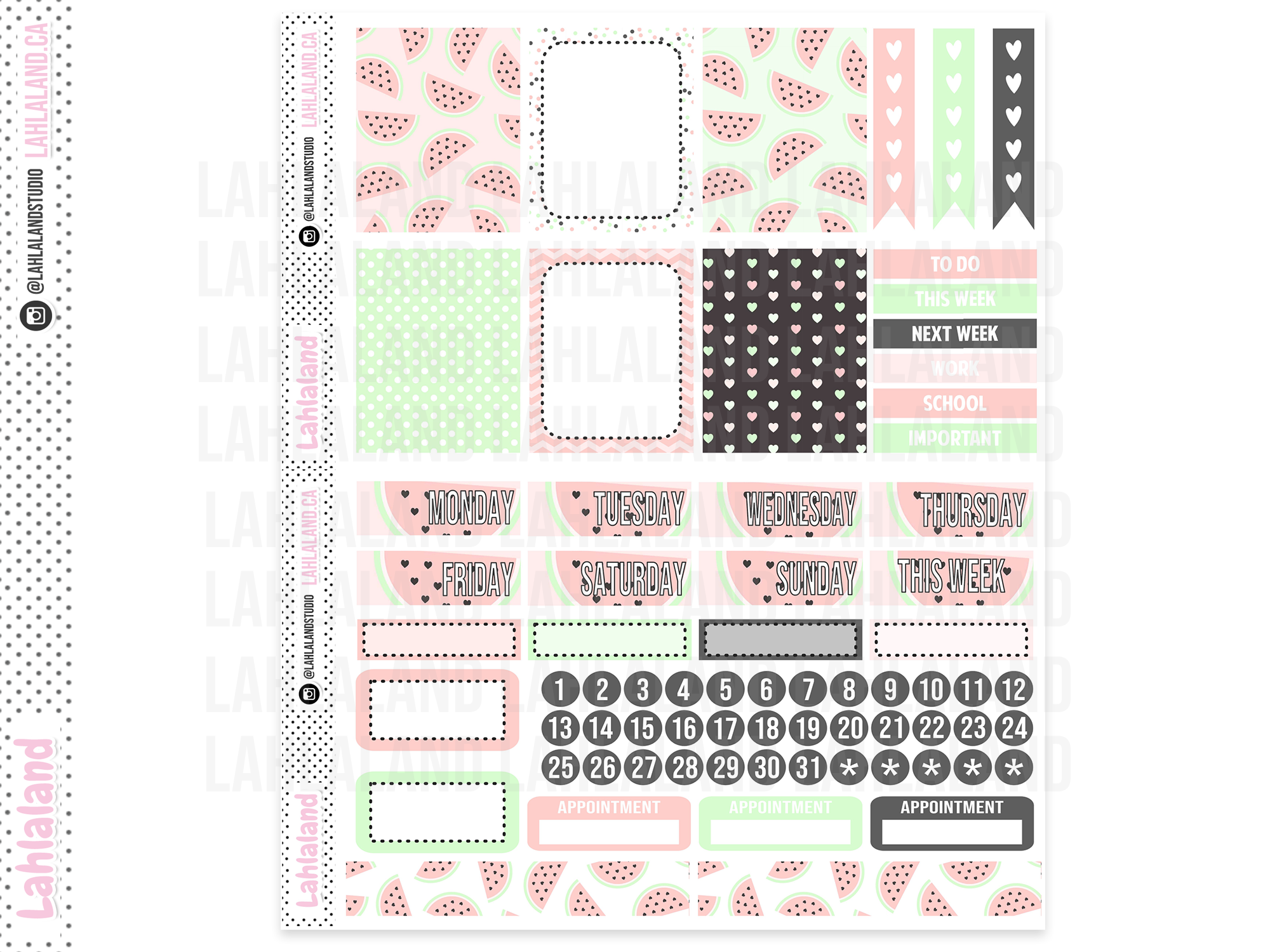 PP Weeks - Watermelon Chic Weekly Kit