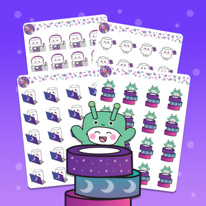 Galaxy Planning Time Stickers - Tripp