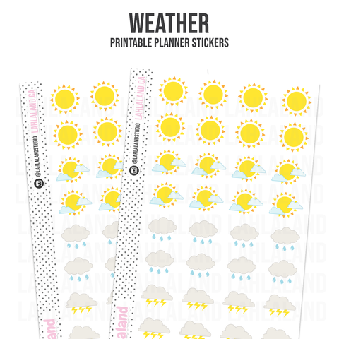 Weather Icons - Functional Stickers