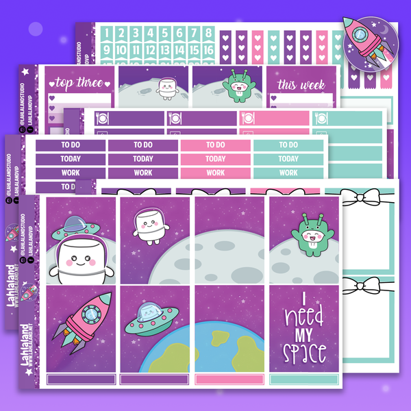 Erin Condren Galaxy Weekly Kit - Tripp