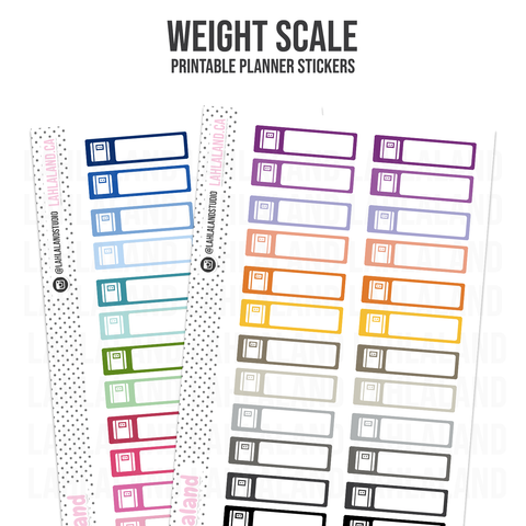 Weight Scale - Functional Stickers